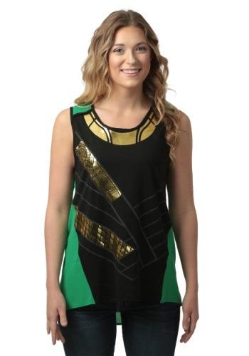 Marvel I Am Loki Asymmetric Juniors Tank Top