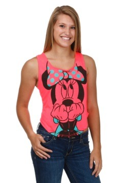 Womens Minnie Mouse Shocking Pink Tank
