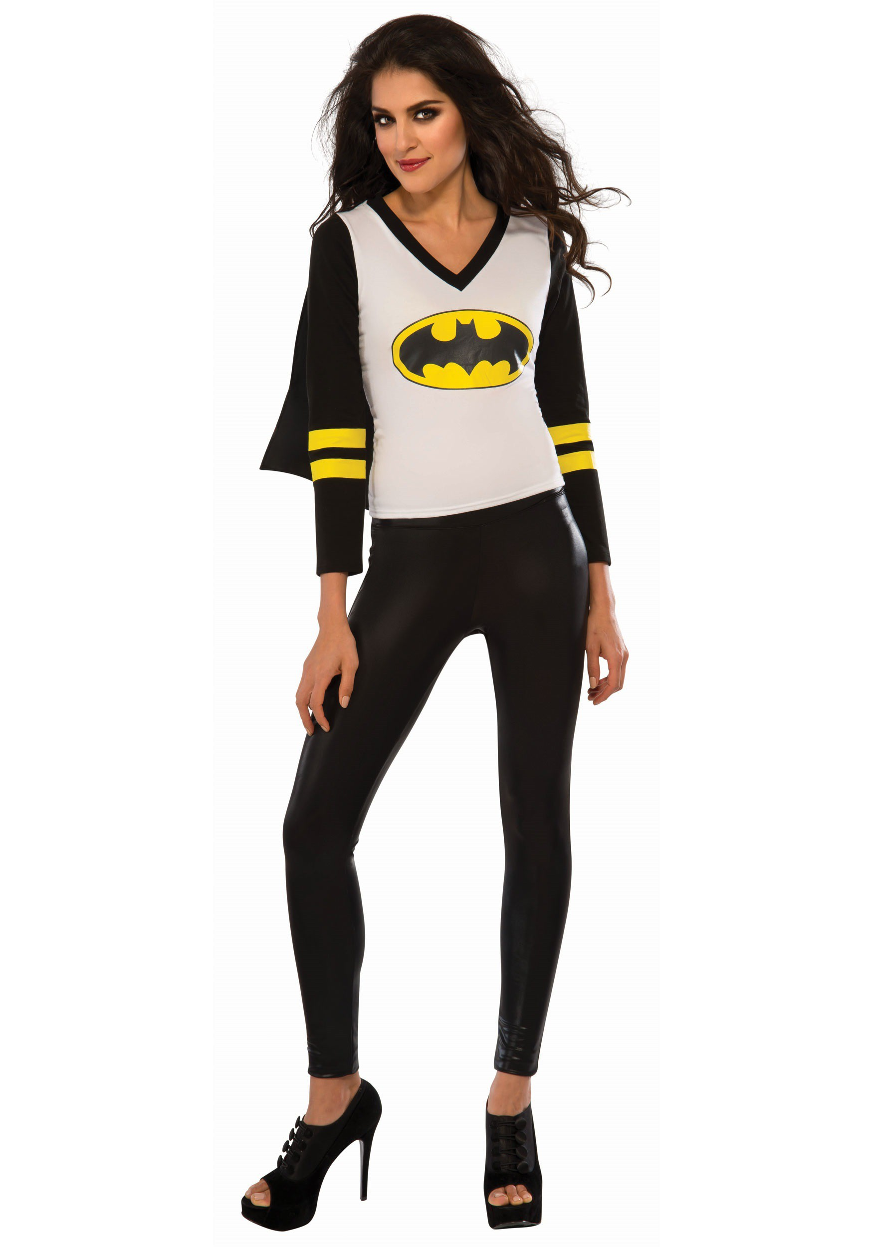 664169b7 Womens Batgirl Sporty Tee with Cape Costume