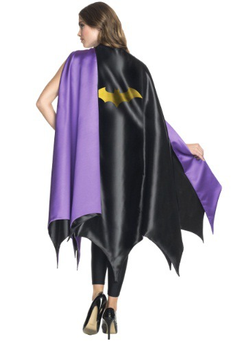 Adult Black & Purple Deluxe Batgirl Cape