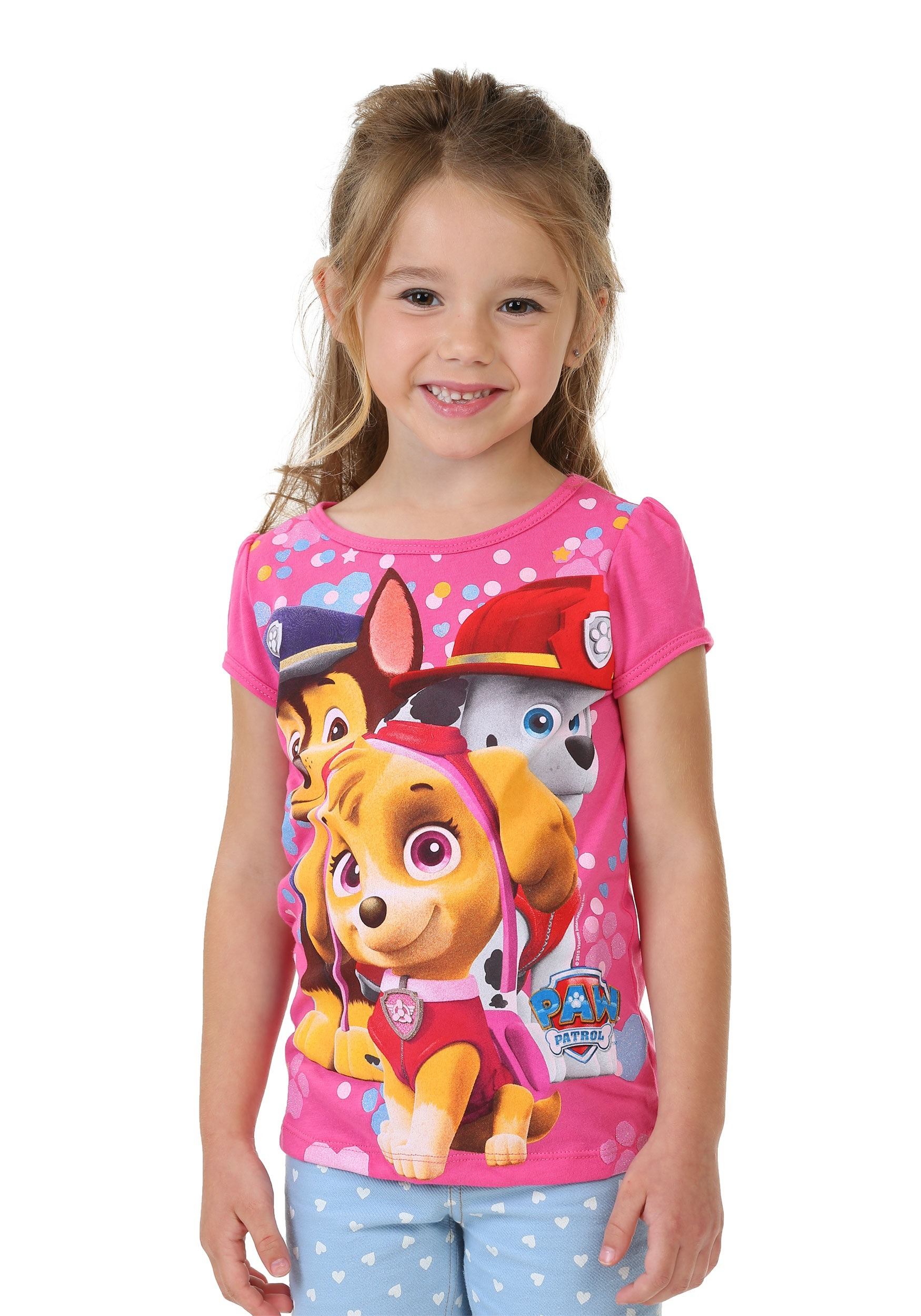 paw patrol hearts and puppies toddler t shirt