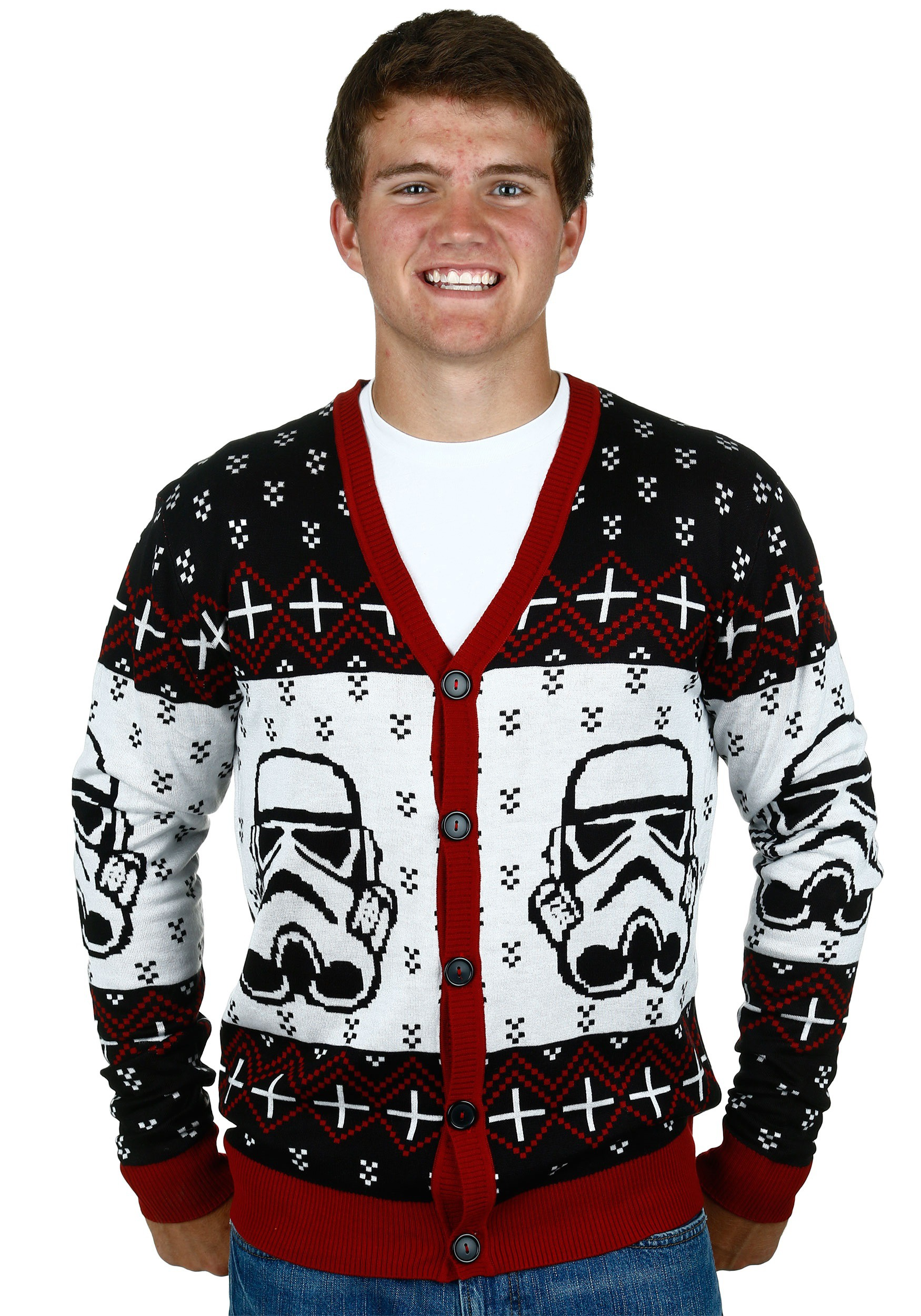 Star Wars Stormtrooper Men's Ugly Christmas Cardigan MFMSTW1543MAR1