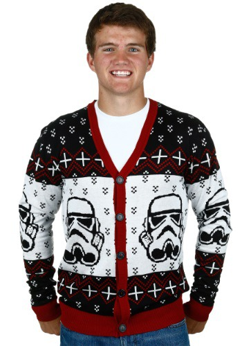 STAR WARS STORMTROOPER UGLY SWEATER CARDIGAN
