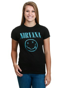 Nirvana Turquoise Smile Juniors T-Shirt