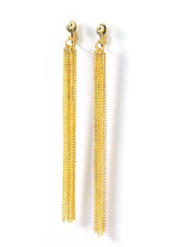 Gold Chain Disco Earrings alt1