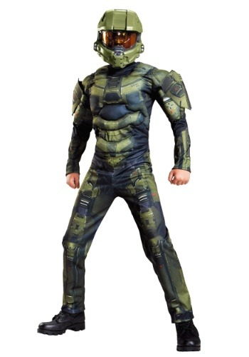 Master Chief Classic Muscle Costume for Boys