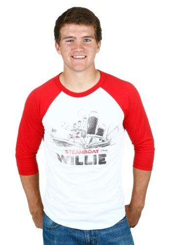 Mens Steamboat Willie Boat Raglan Shirt