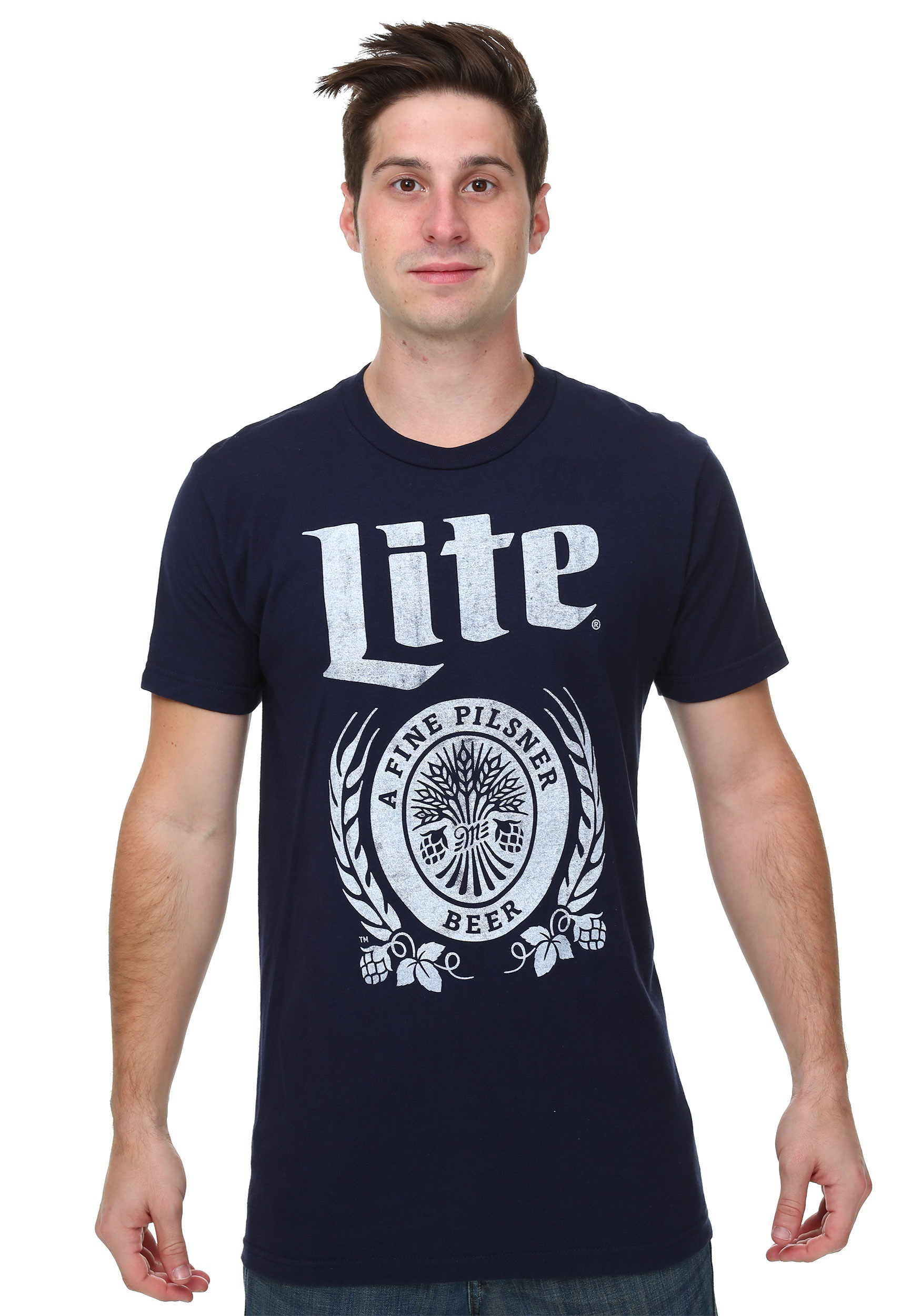 Miller lite vintage logo t shirtt for Old logo t shirts