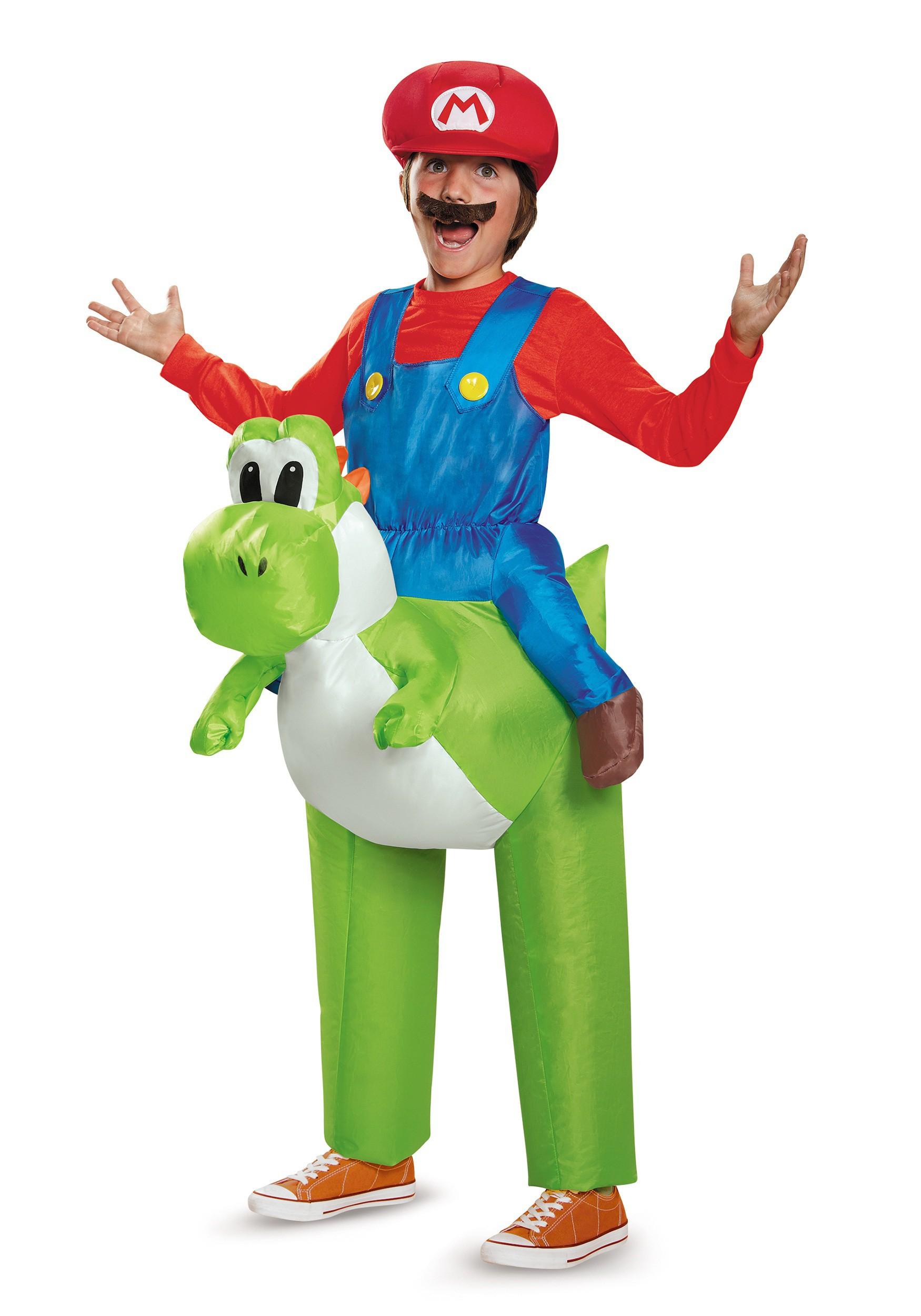 mario riding yoshi costume for boys