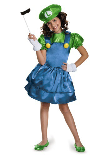 Luigi Girls Dress Costume