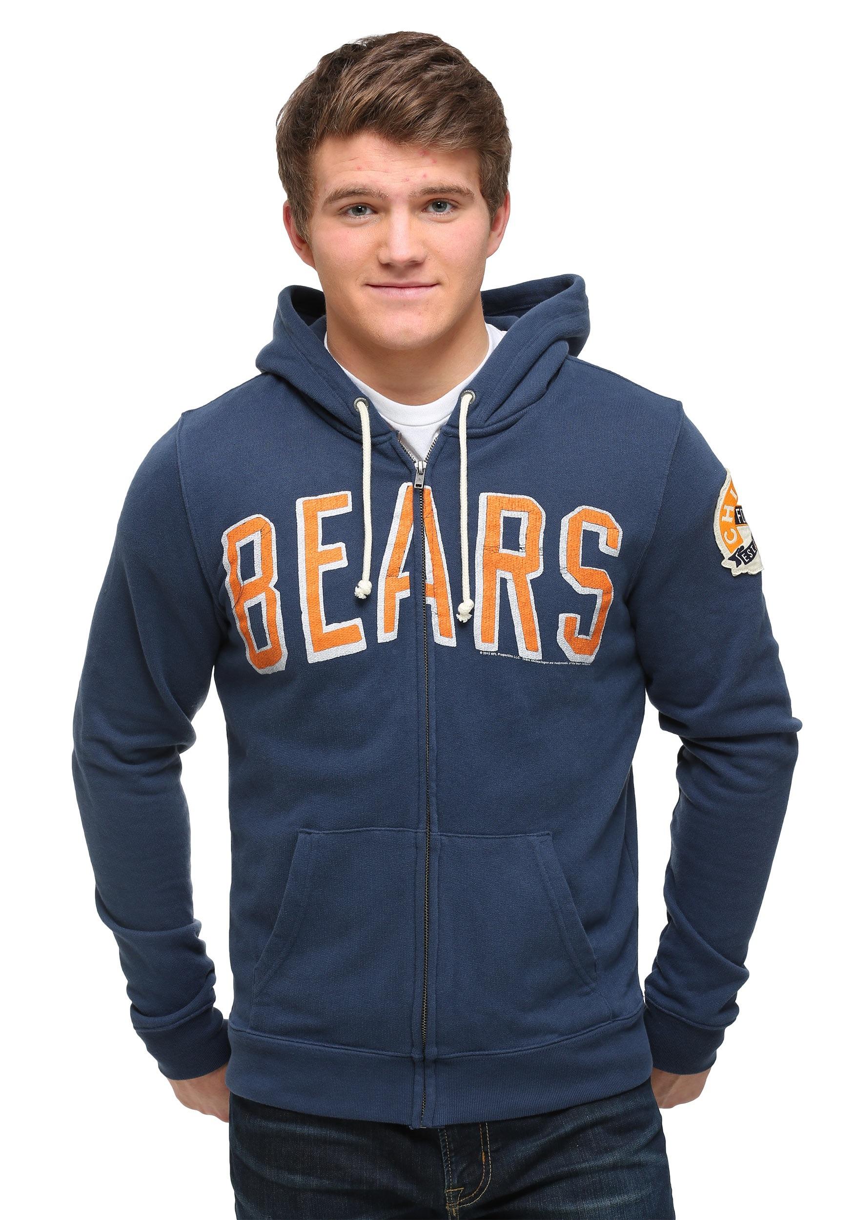 Zip Bears Chicago Hoodie Up