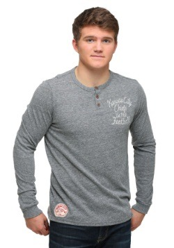 Kansas City Chiefs Huddle Henley Mens Long Sleeve Shirt