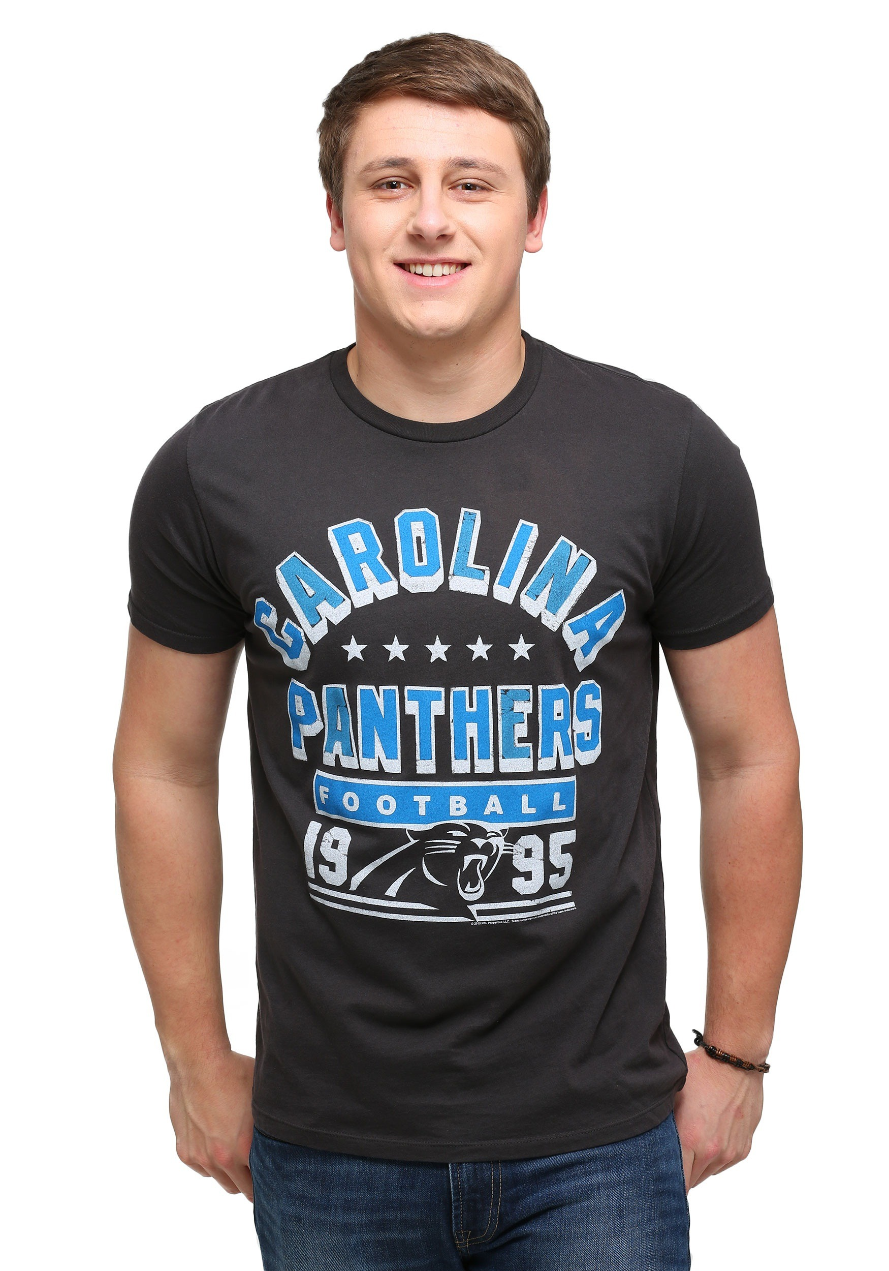 Men's Carolina Panthers #35 Mike Tolbert White 2016 Super Bowl 50 Game Jersey