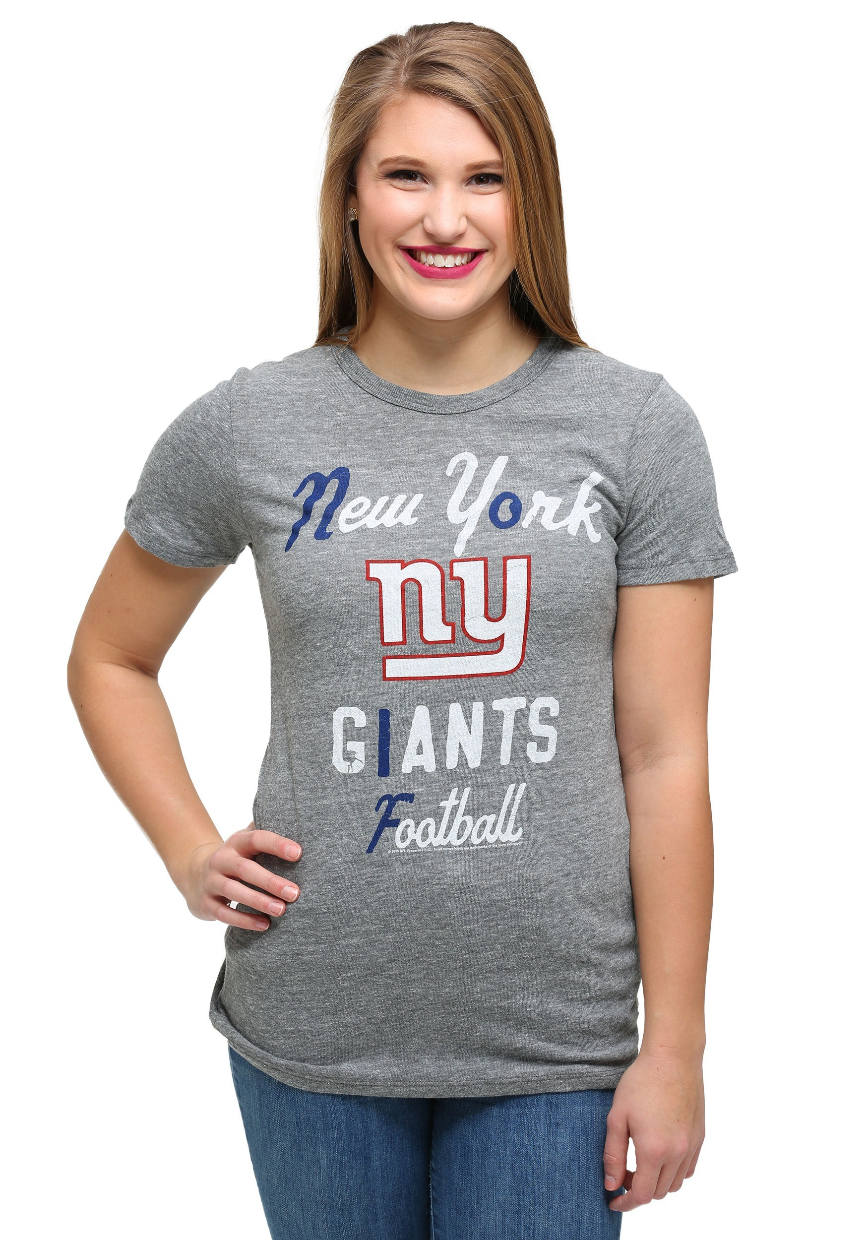 Womens New York Giants Touchdown Tri Blend T Shirt