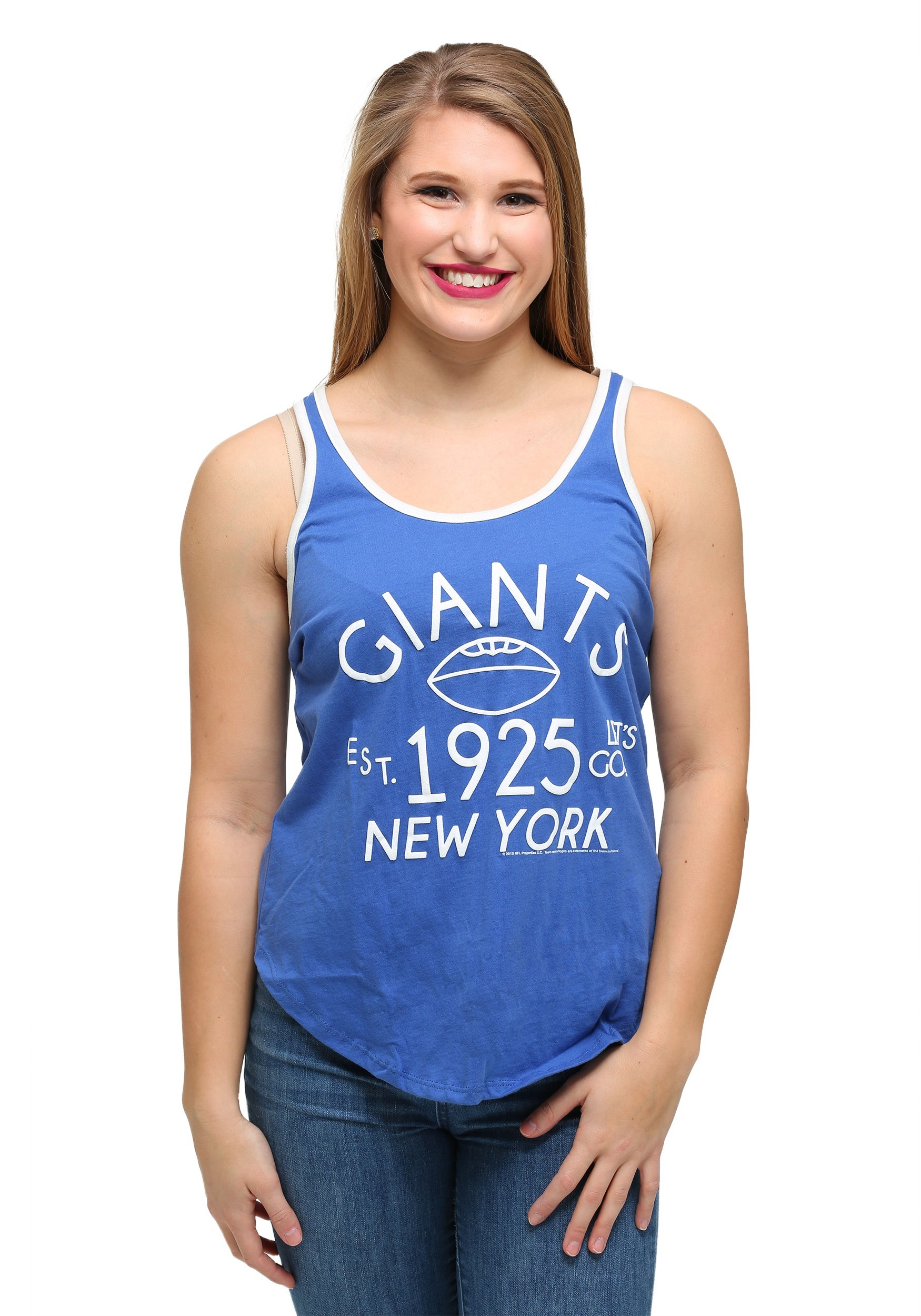 womens new york giants time out tank top. Black Bedroom Furniture Sets. Home Design Ideas