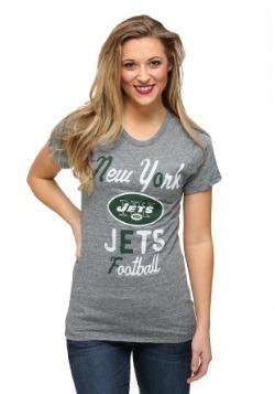 New York Jets Touchdown Tri-Blend Juniors T-Shirt