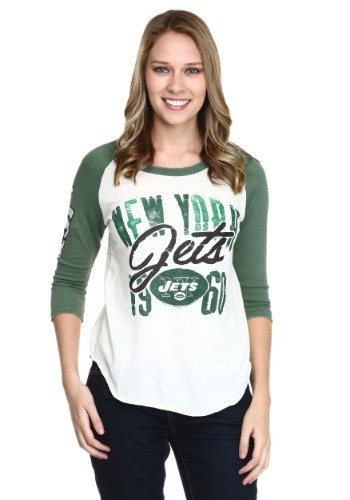 New York Jets All American Womens Raglan Shirt