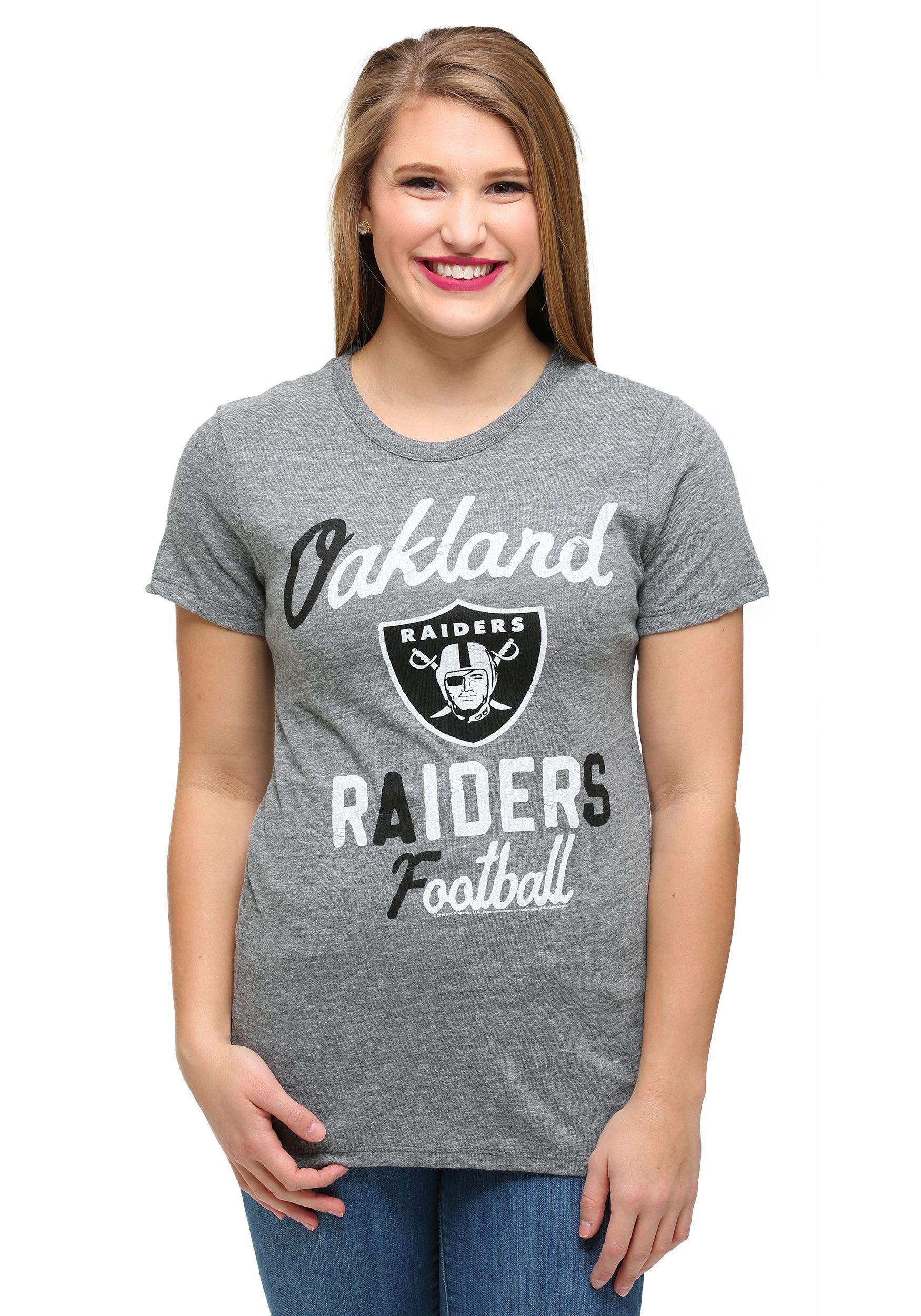 Oakland Raiders Touchdown Tri-Blend Womens T-Shirt
