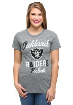 Oakland Raiders Touchdown Tri-Blend Juniors T-Shirt