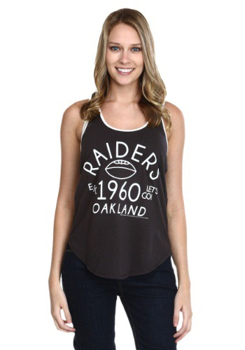 Oakland Raiders Time Out Juniors Tank Top