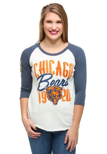 Chicago Bears All American Raglan Juniors Shirt