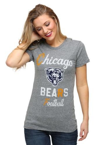 Chicago Bears Touchdown Tri-Blend Juniors T-Shirt