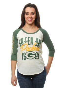 Womens Green Bay Packers All American Raglan Style Shirt