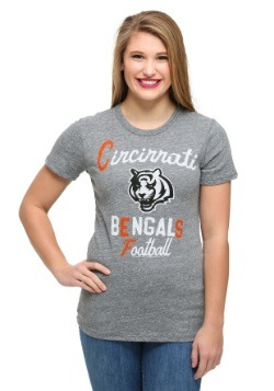 Cincinnati Bengals Touchdown Tri-Blend Juniors T-Shirt