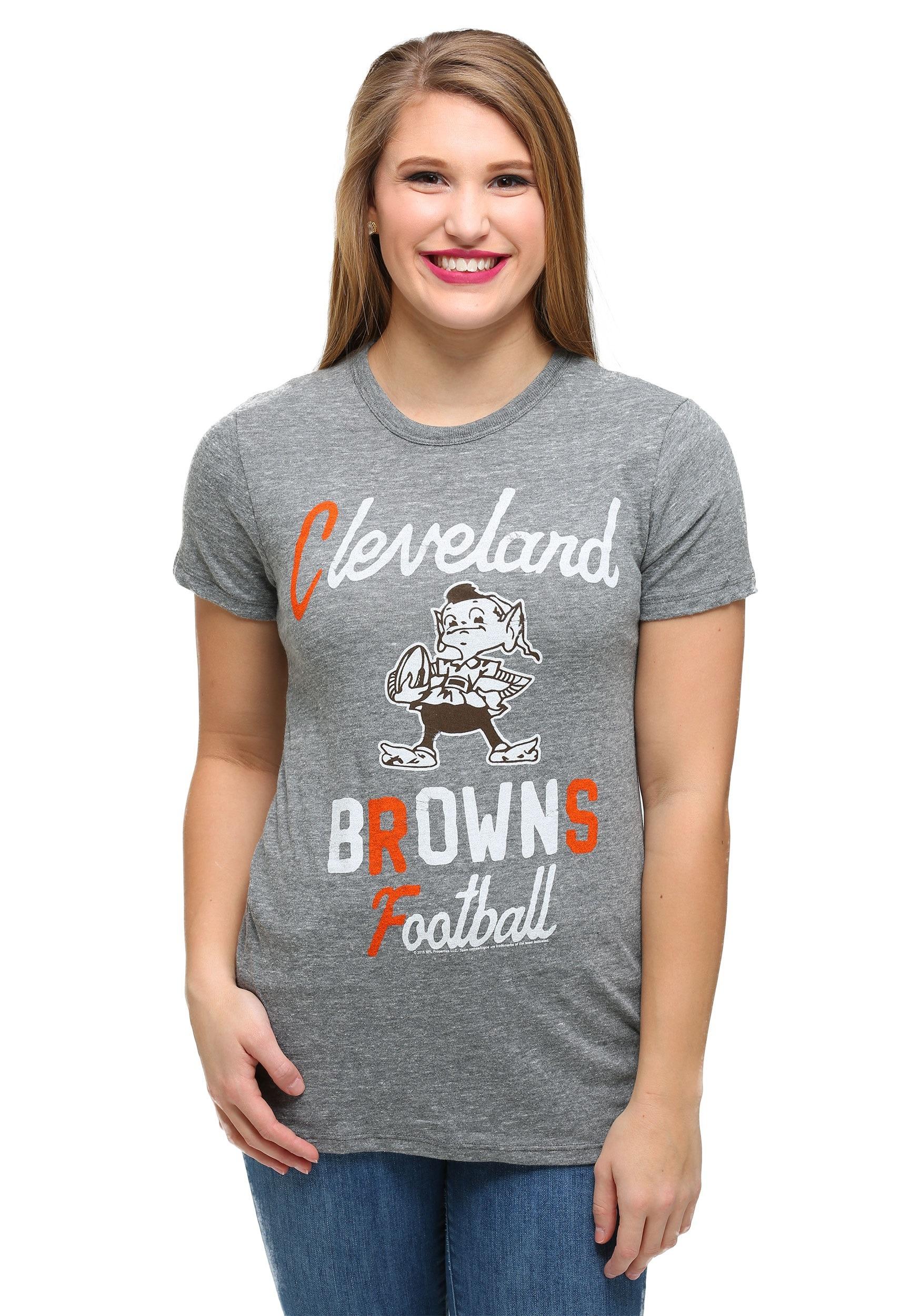 b7c5ac80 Womens Cleveland Browns Touchdown Tri-Blend T-Shirt