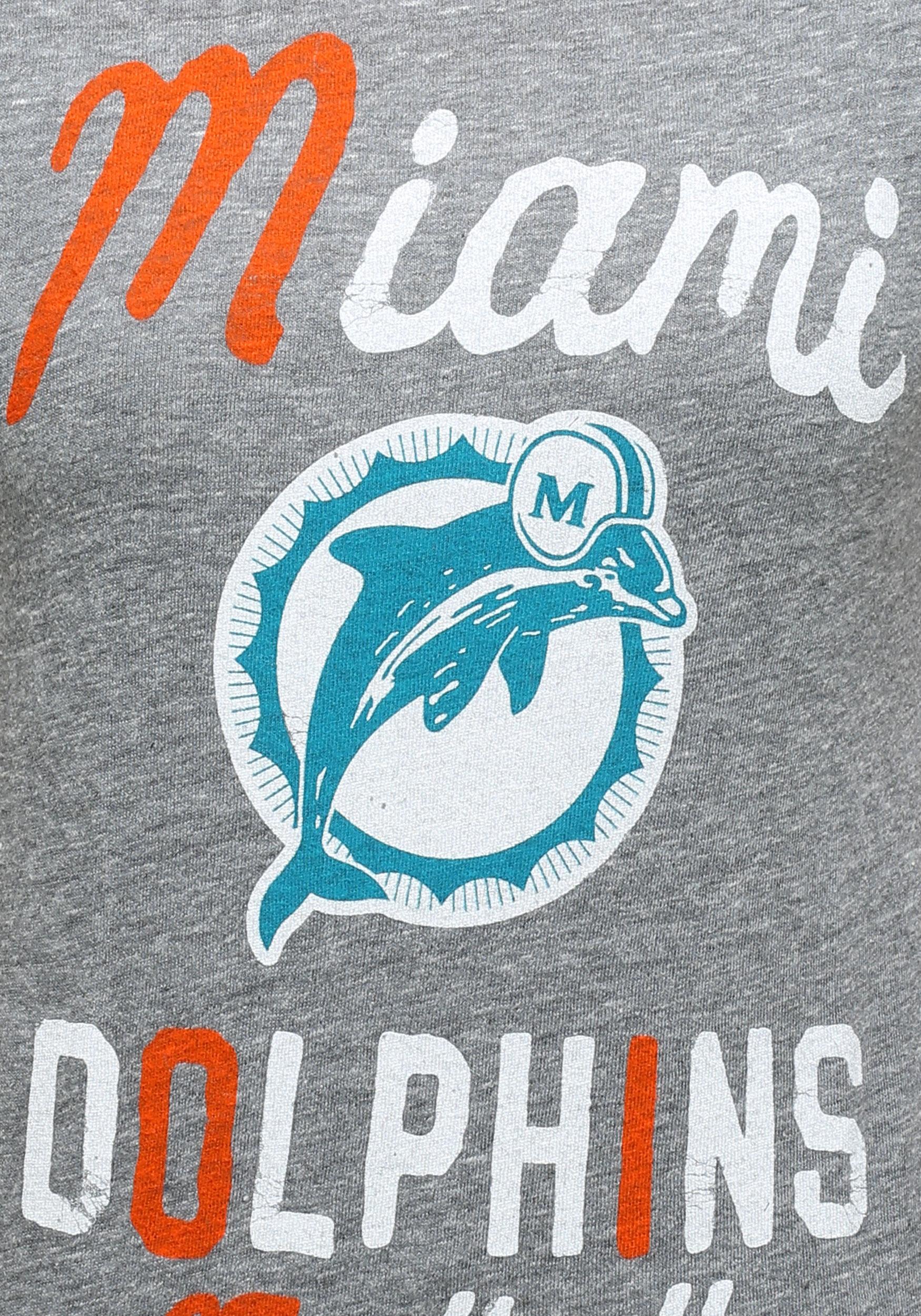 e9a44168 Womens Miami Dolphins Touchdown Tri-Blend T-Shirt
