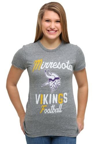 Minnesota Vikings Touchdown Tri-Blend Juniors T-Shirt