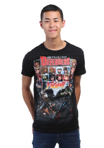 Avengers Fearless Defenders Black T-Shirt