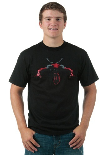 Deadpool Night Leaper Black Foil T-Shirt