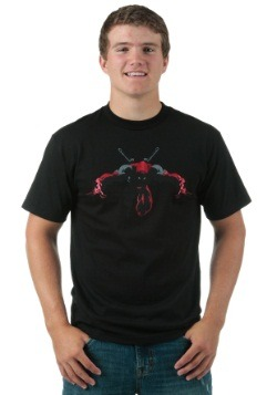 Deadpool Night Leaper Black Foil T-Shirt