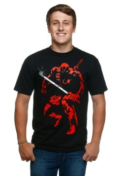 Deadpool Shadow Proclamation Black T-Shirt