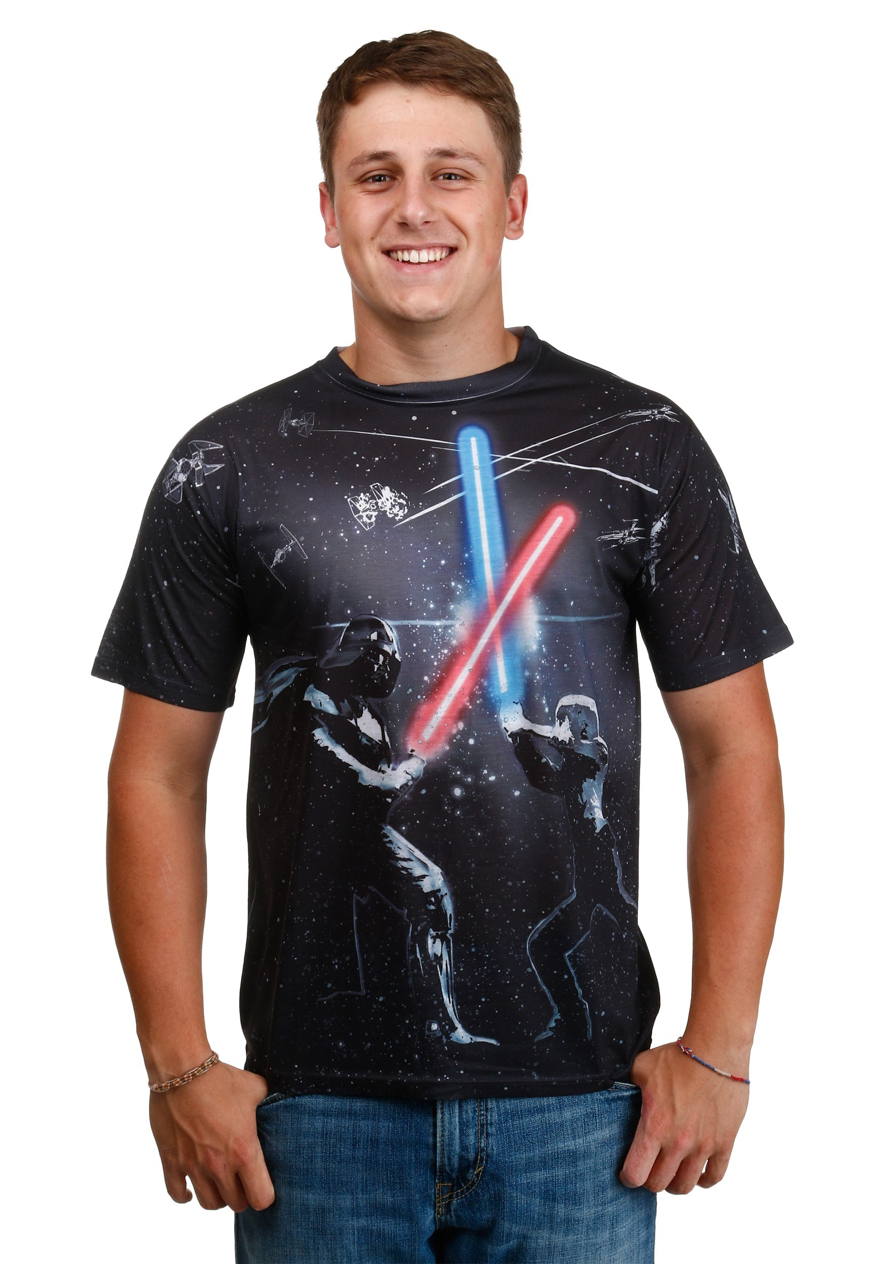 Star Wars All-Over Battle T-Shirt MASWRSRAMQMSCXX