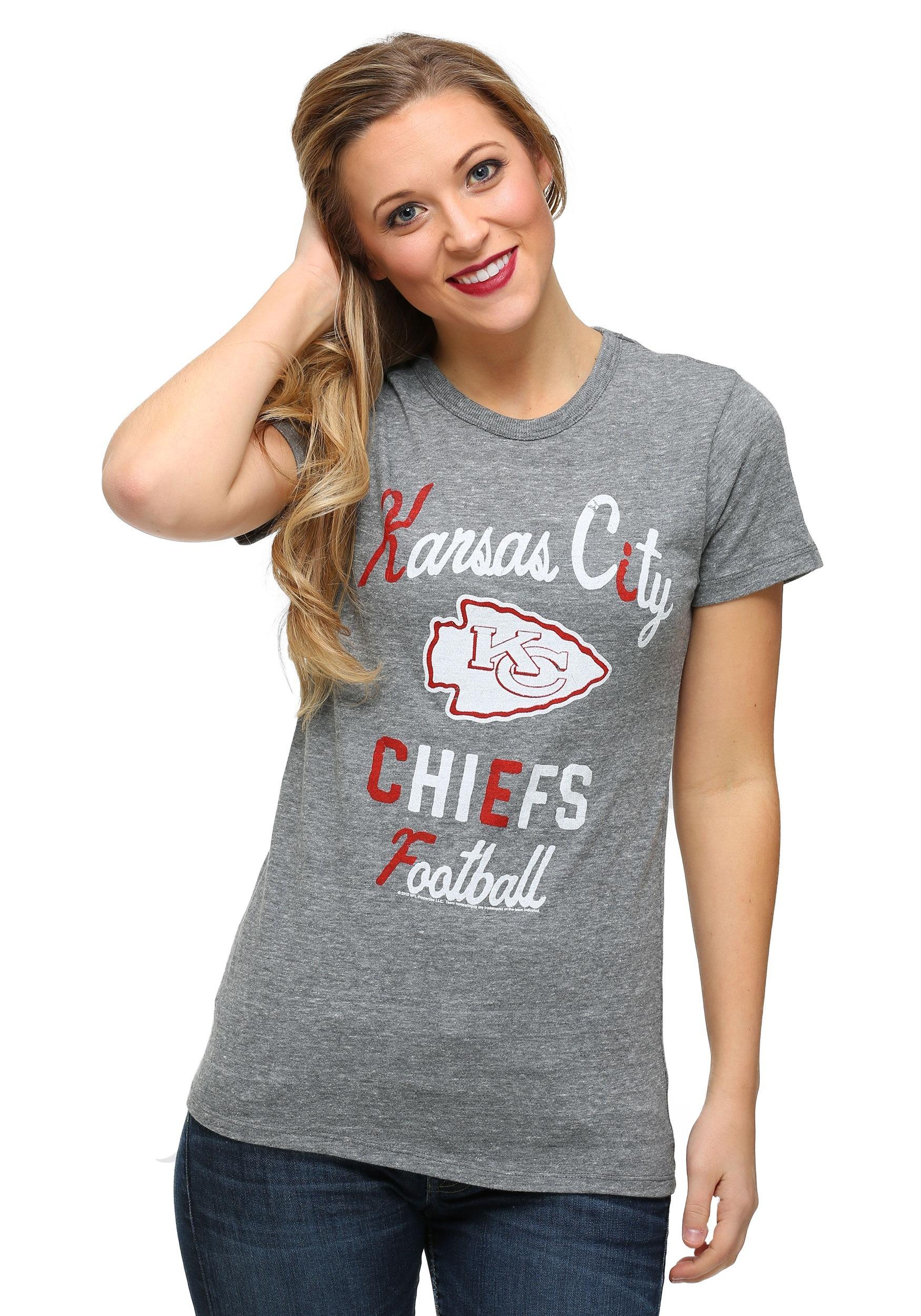 b5ab7cc3 Womens Kansas City Chiefs Touchdown Tri-Blend T-Shirt
