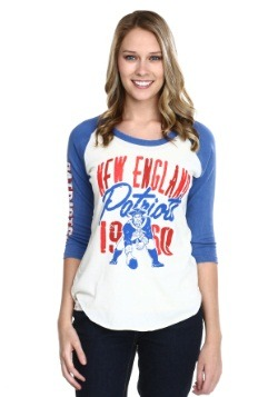 Juniors New England Patriots All American Raglan