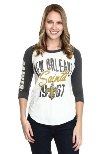 New Orleans Saints All American Womens Raglan Shirt