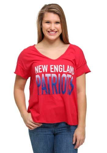 New England Patriots Sideline V-Neck Juniors T-Shirt