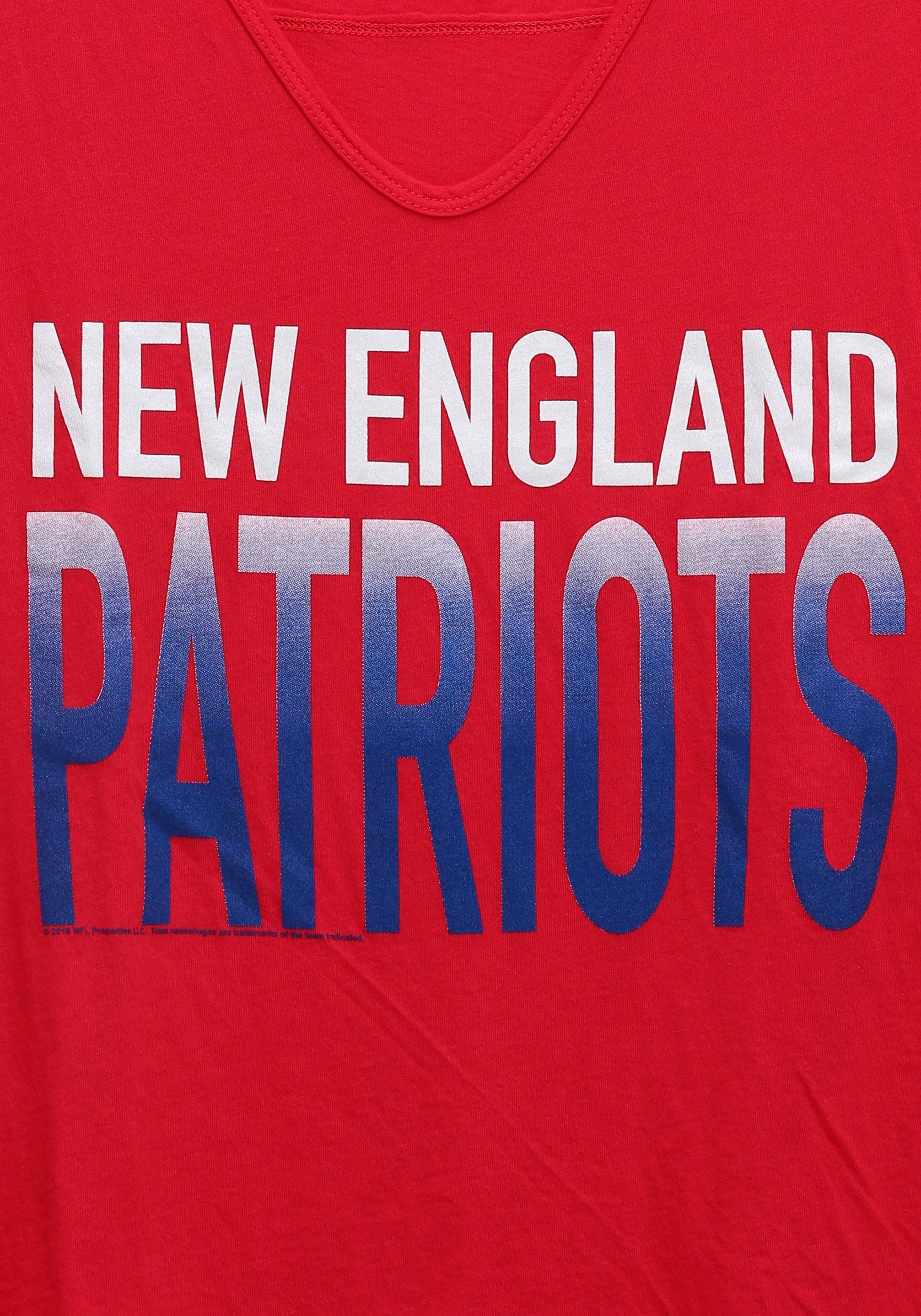 New England Patriots Sideline V Neck Juniors T Shirt