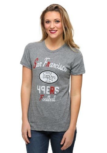 San Francisco 49ers Touchdown Tri-Blend Juniors T-Shirt