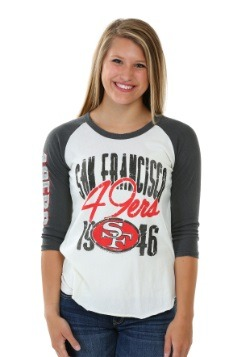 San Francisco 49ers All American Raglan Juniors Shirt