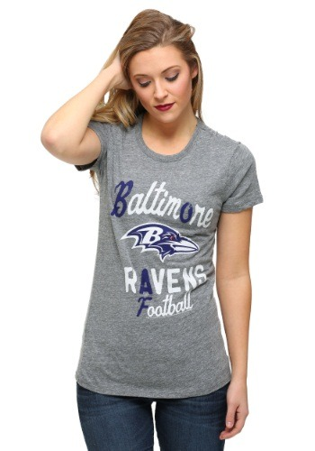 Womens Baltimore Ravens Touchdown Tri-Blend T-Shirt