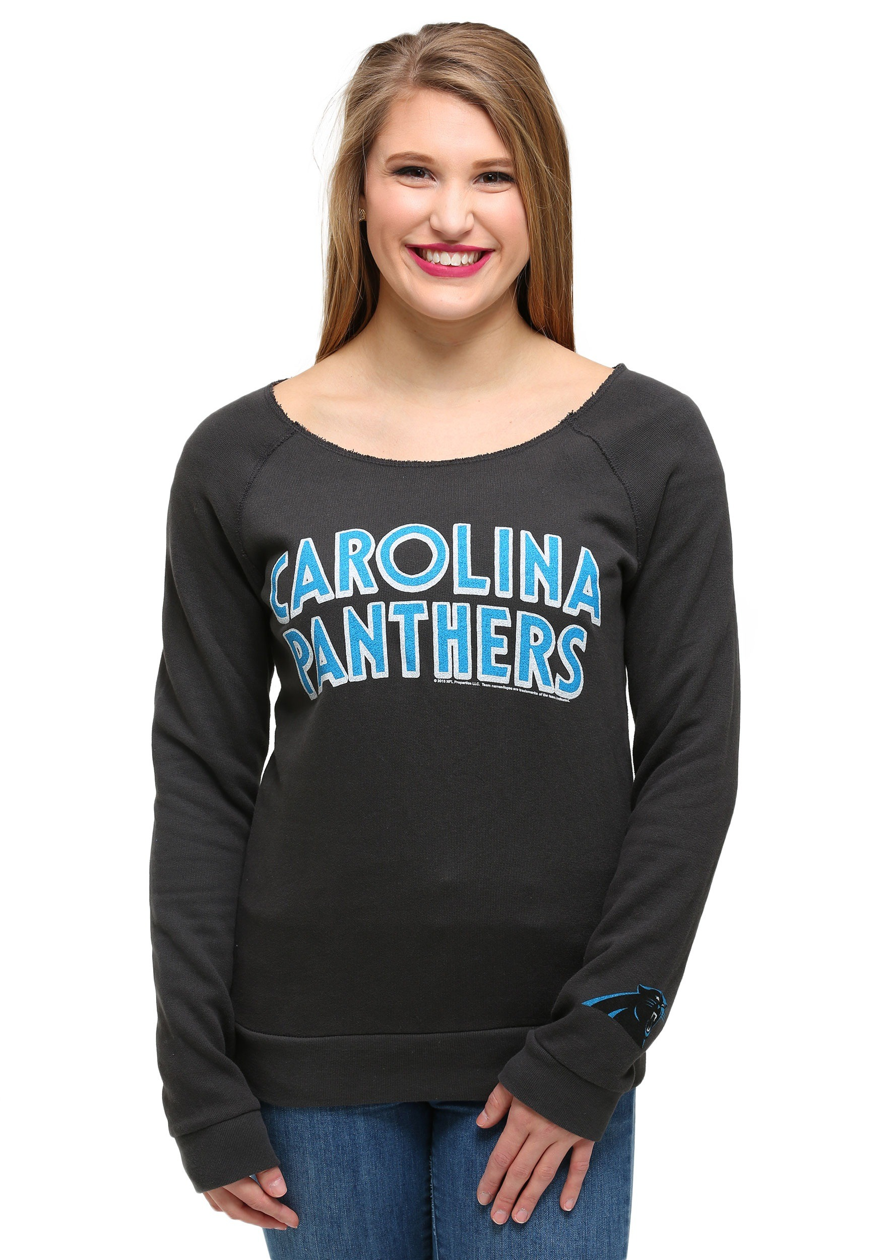 Women's Carolina Panthers Junk Food Black Time Out Tank Top