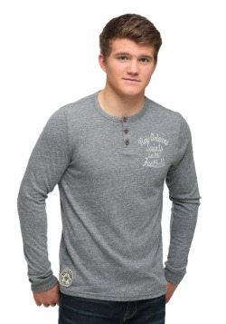 New Orleans Saints Huddle Henley Mens Long Sleeve Shirt