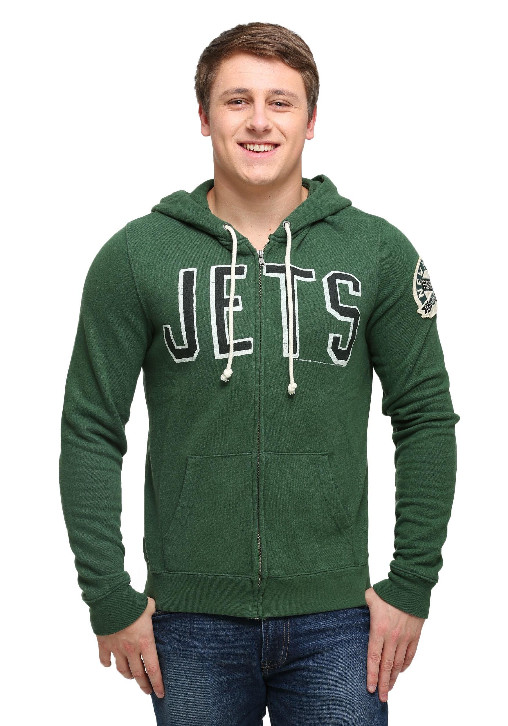 lowest price 66103 253ac New York Jets Sunday Mens Zip Up Hoodie
