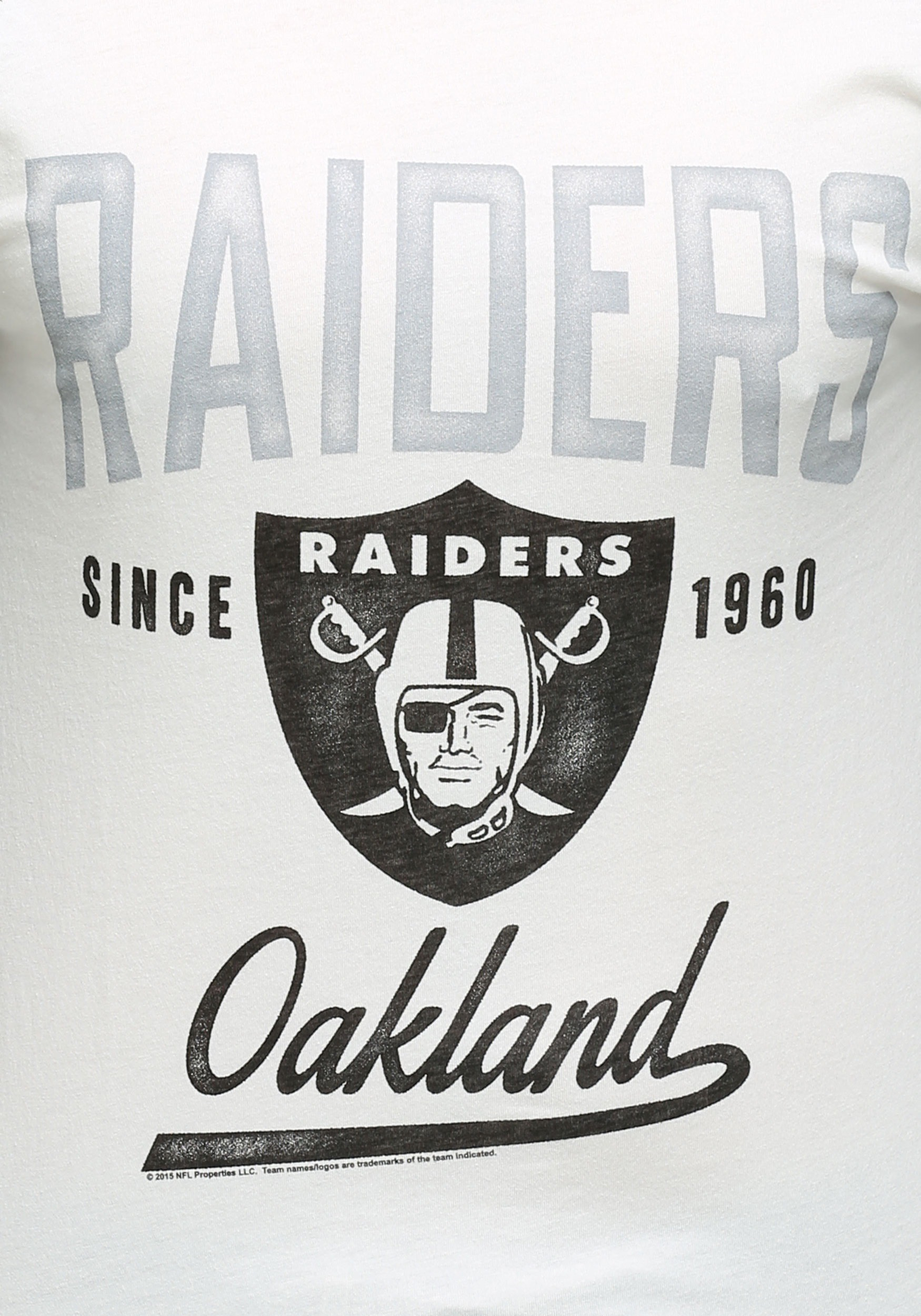 Oakland Raiders Nail Art: Men's Oakland Raiders All American Raglan