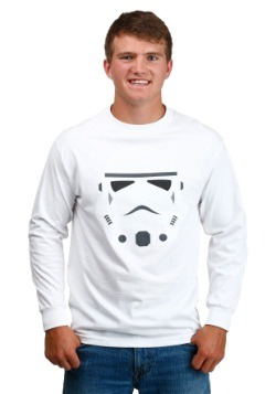 Stormtrooper Helmet Glossy Long-Sleeved Shirt