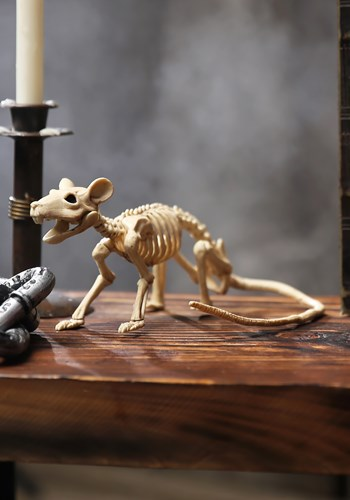 Mini Skeleton Rat Decoration